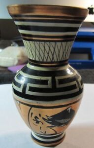 HAND PAINTED GREEK COPPER VASE,   ESTATE FIND, NO RESERVE