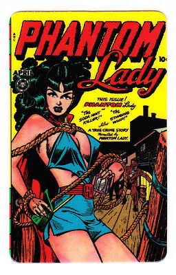PHANTOM LADY #17 Golden Age Phone Card MINT Unused 10 Unit 1996 MATT BAKER Art !