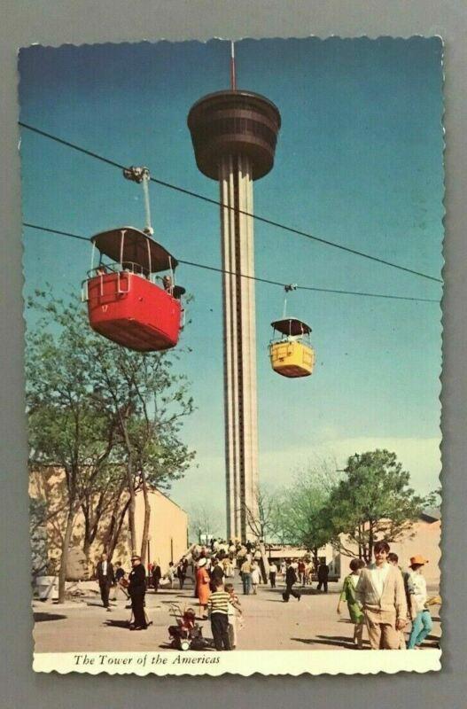 Vintage Texas San Antonio World Fair The Tower of the Americas Postcard