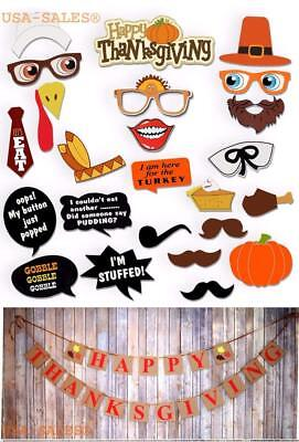 Happy Thanksgiving Day Set : Props + Banner, Thanksgiving Decorations - Happy Thanksgiving Banners