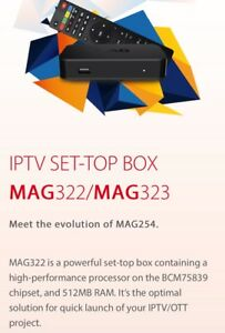 MAG322 with IPTV service