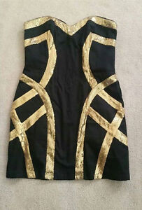 Beautiful Black w/ gold sequin Dress