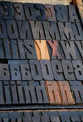 Art Nouveau Letterpress Wood Printing Blocks 128pcs 3.54 Wooden Type Print