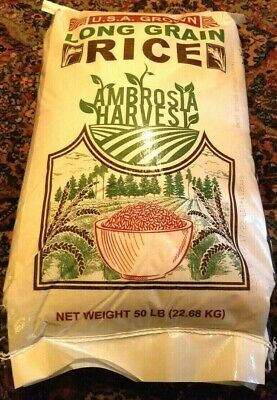 50 LBS AMBROSIA HARVEST LONG GRAIN RICE 50 LB RICE -