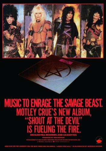 MOTLEY CRUE Band Custom 24 x 34 Shout At The Devil Album Promo Poster