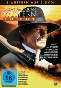 8-GREAT-AMERICAN-OESTE-COLECCIoN-John-Wayne-CHARLES-BRONSON-Brando-Caja-de-DVD