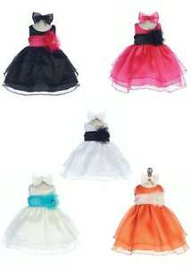 NEW-CC-B-574-Baby-Flower-Girl-Pageant-Party-Dress-in-10-Different-Colors-6M-24M