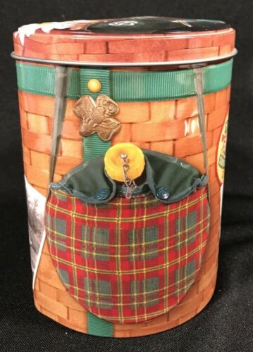 """Collectible Girl Scout Cookie Tin Camp Backpack w/Straps Senior Roundup  6"""""""