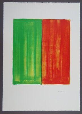 Jerry Zeniuk Berlin Lithograph 2 Farblithographie 1996 handsigniert und datiert