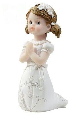 Kommunion Tortenfigur Kommunionkind knieend  Figur Konfirmation Mädchen betend
