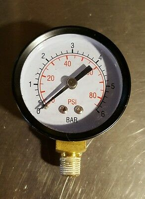 18 0-85 Psi 0-6 Bar Air Pressure Gauge Air Compressor Steel Case