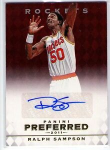 Ralph Sampson 2011-12 Panini Preferred Autograph Auto #36/74!