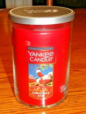 """YANKEE CANDLE - """"CHRISTMAS EVE"""" 22 oz. JAR CANDLE with TWO WICKS, BRAND NEW"""