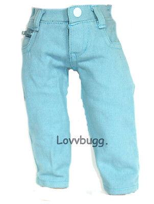 Sky Blue Jeans Pants 18 inch American Girl Doll Clothes