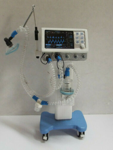 Dollhouse miniature handcrafted Medical Hospital ventilator 1/12th scale