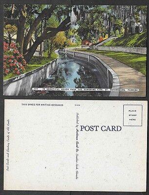Old Florida Postcard - St. Petersburg - Roser Park