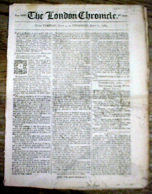 1769 pre Revolutionary War newspaper AMERICAN COLONIES challege British taxes