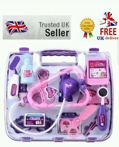 Kids Childrens Role Play Doctor Nurses  Medical Set Kit Gift Hard Carry Case(p)