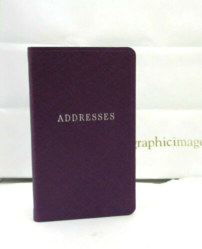 """Post Address Book 3x5"""" Soft Flexible Cover Graphic Image Personal Pocket Purple"""