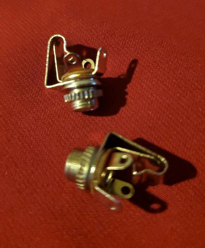 "3.5mm 1/8"" Mono Audio/Power (2) Female Jack Socket Connector Panel Mount Solder"