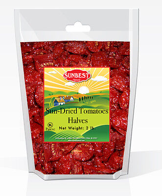 SUNBEST Sun-Dried Tomatoes Halves 2lbs in Resealable Bag