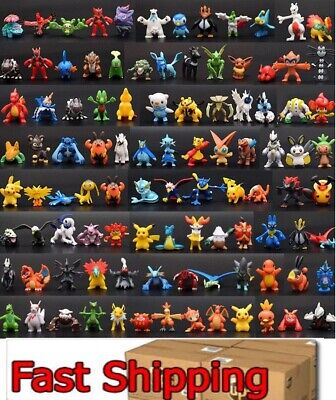☀️ 144 pcs Pokemon Mini PVC Action Figures pikachu Toys Kids Gift ☀️