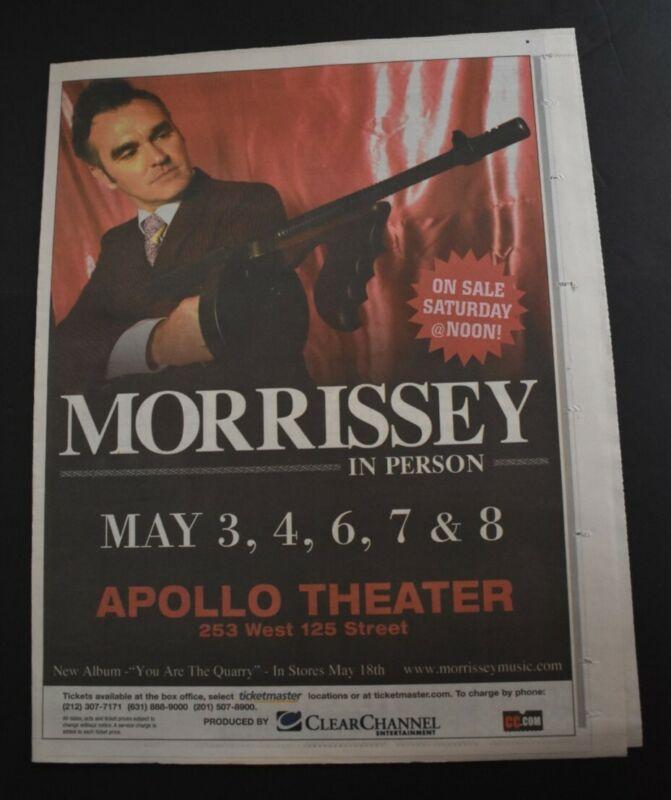 Morrissey 2004 Color 11x14 Concert Ad Apollo Theatre NYC