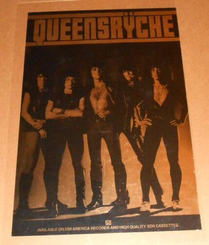 Queensryche Metallic Gold 1983 Original Promo Poster RARE 36x24