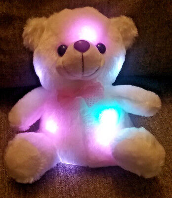 gift for valentine's day, Teddy bear with light that shine in different colors.](Stuffed Animals For Valentine's Day)