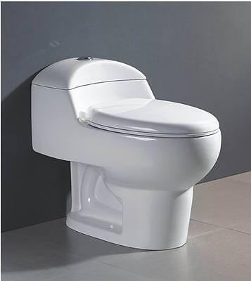 Swiss Madison Château One Piece Elongated Toilet Dual Flush 0.8/1.28 gpf White - Gpf Dual Flush Toilet