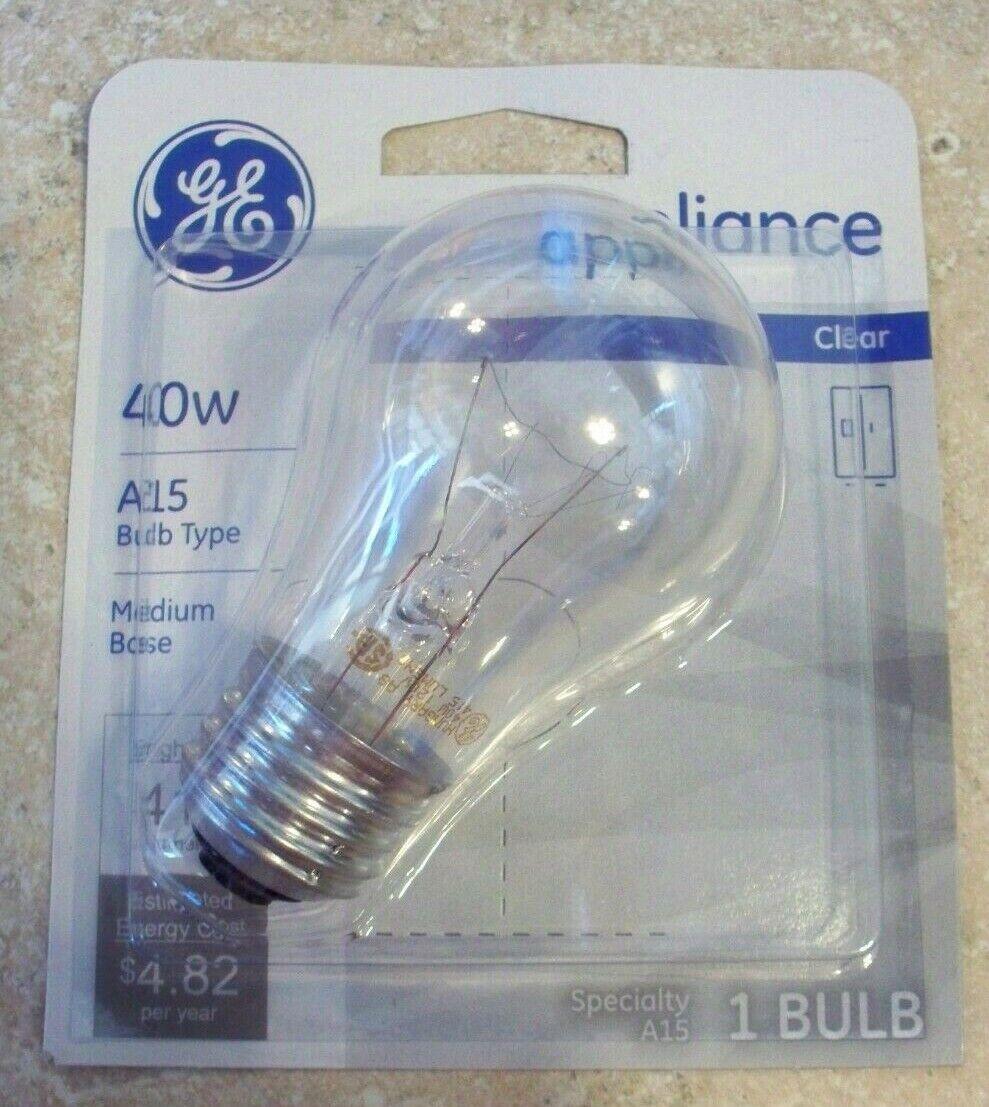 Lot of 12 GE 15206-12 40-Watt Appliance Light A15 Light Bulb