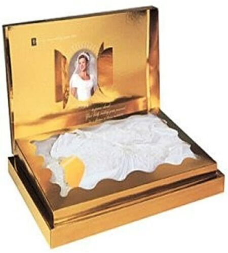 Acid-Free Wedding Dress Premium Preservation Box Bridal Keepsafe (Gold)
