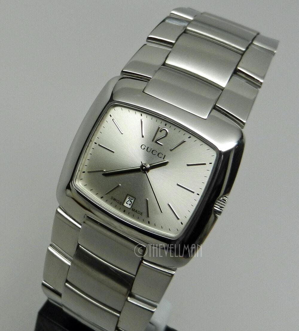$299.99 - Mens Authentic Swiss Made 8505 Gucci Stanless Steel YA085304 Wrist Luxury Watch