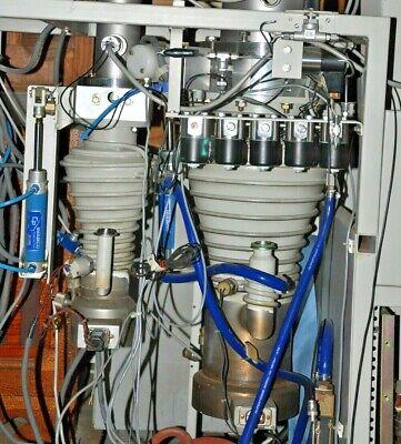Two 2 Alcatel Adixen Dual Diffusion Pumps High Vacuum Pair Dual
