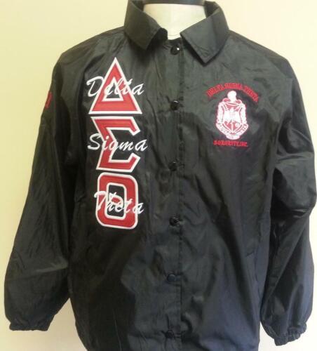 Delta Sigma Theta Sorority Line Jacket- Black- Size Large-New!