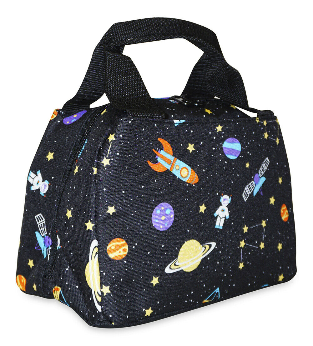 Space Thermal Insulated Lunch Box Cooler Bag Cute Girls Tote