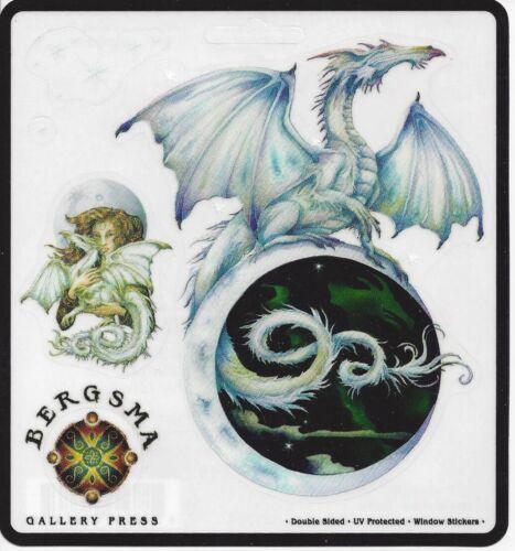 MOON & STARS Dragon Fairy Stickers Car Decals Jody Bergsma dragons sticker