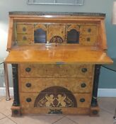 Antique French Inlaid Secretary Writing Desk