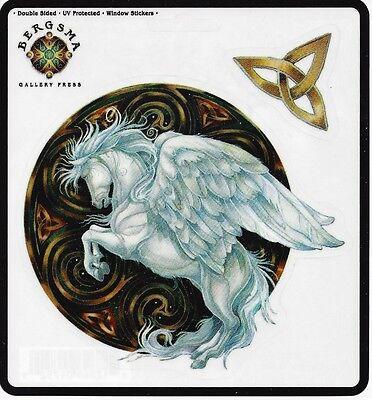 DREAMS TAKE FLIGHT Pegasus Sticker Car Decal Jody Bergsma fairy horse unicorn