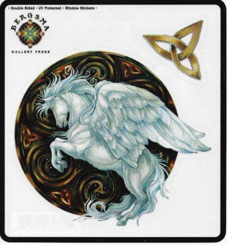 DREAMS TAKE FLIGHT Pegasus Winged Horse Sticker Car Decal Jody Bergsma triquetra