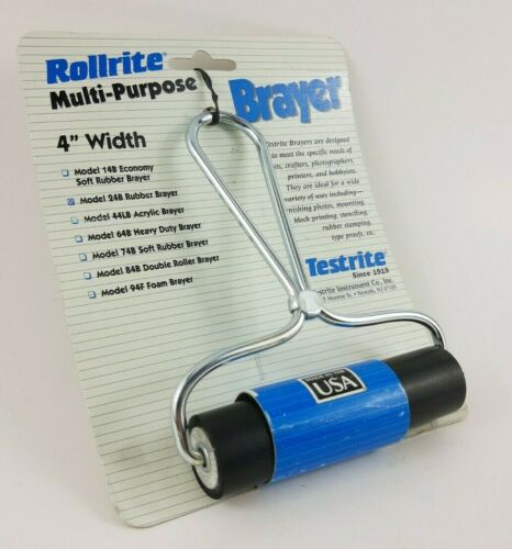 Rollrite Brayer Model 24B Rubber Multi-Purpose 4 inch Lightweight Crafts