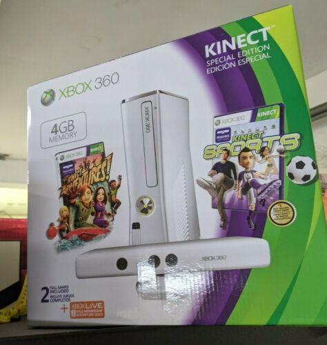 Microsoft+Xbox+360+Special+Edition+Kinect+Sports+4GB+White+Console+2+Games+BNIB%21