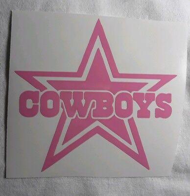 Dallas Cowboys Decal Sticker NFL Cars Trucks Windows Tumblers Football