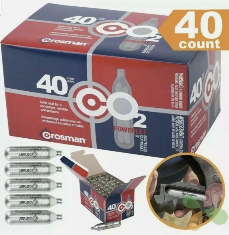Crosman CO2 Cartridges 40 Count C02 12 Gram FREE SHIPPING 8x5 packs 🔥 SALE