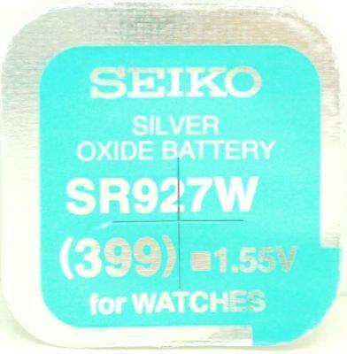 Seiko 399 (SR927W) Silver Oxide (0%Hg) Mercury Free Watch Battery Made in Japan 399 Silver Oxide Watch Battery