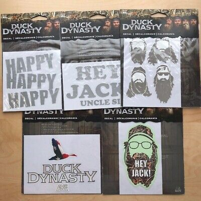 Lot 5 Duck Dynasty Vinyl Stickers Decals for Trucks Car  Hey Jack Happy Uncle - Uncle Si Happy Happy Happy