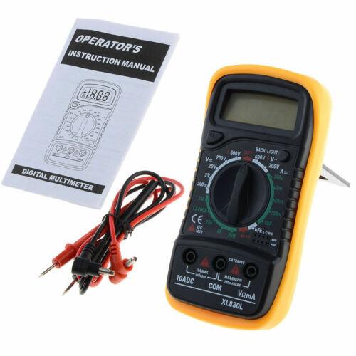 New Digital XL-830L LCD Multimeter Voltmeter Ammeter Ohmmeter OHM VOLT Tester