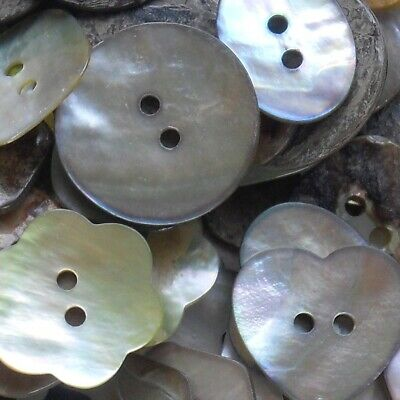 MOTHER OF PEARL BUTTONS - BEST QUALITY X 5 BUTTONS- CHOOSE YOUR SHAPE