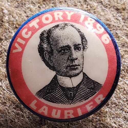 Wilfred Laurier Campaign Button, Canada, 1896