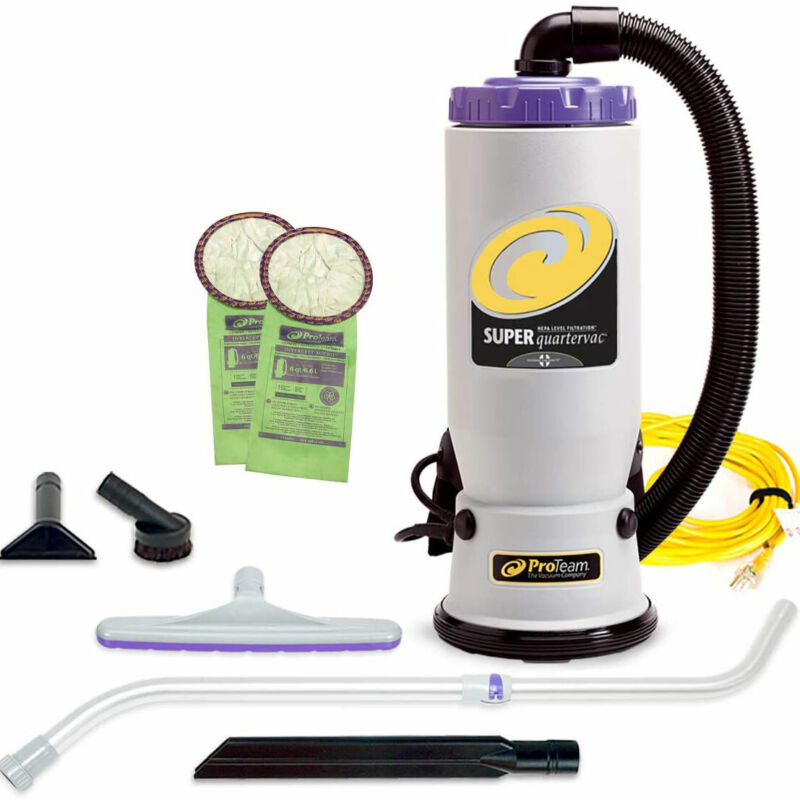 ProTeam QuarterVac 6 Qt Backpack Vacuum with Telescope Wand Tool Kit (For Parts)
